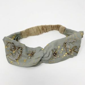 Anthropologie | Embellished Turban Headband
